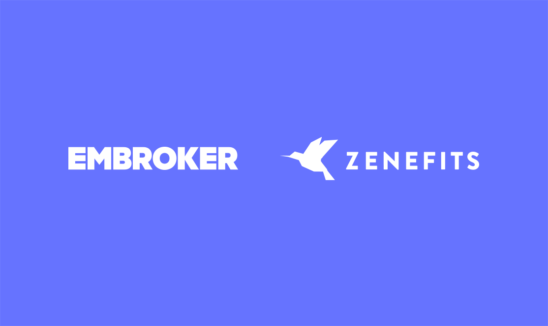 Embroker and Zenefits logos
