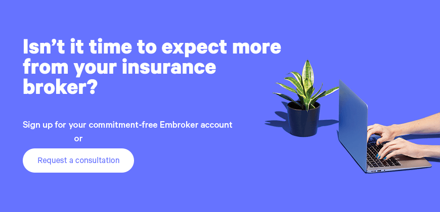 sign up for embroker account