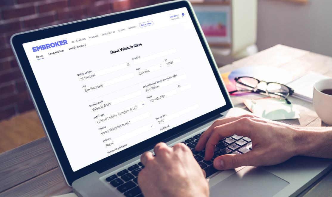 embroker insurance renewal screen