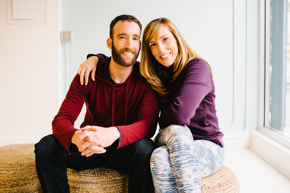 Stephanie Snyder and David Acker Love Story Yoga founders