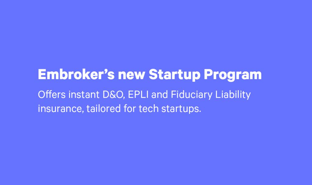 Embroker Startup Program illustration