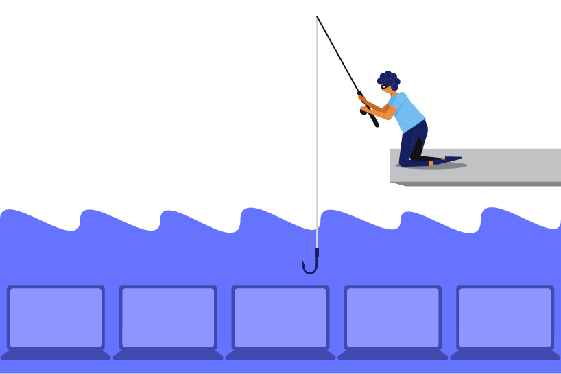 phishing as the most common type of social engineering attacks illustration