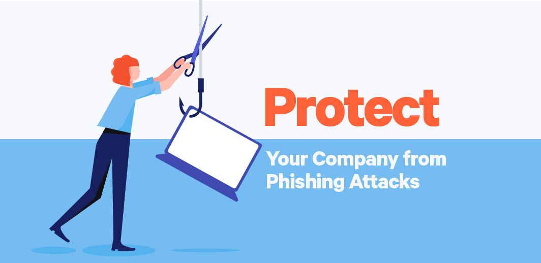 protect business from phishing attacks illustration