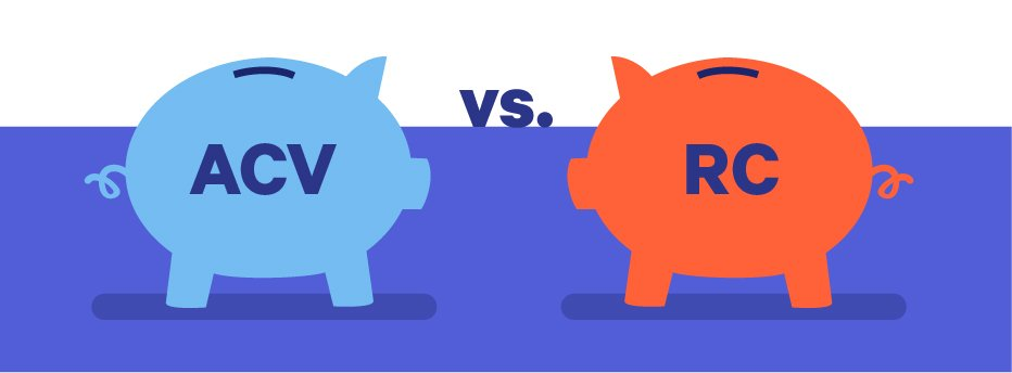 actual cash value vs. replacement cost illustration