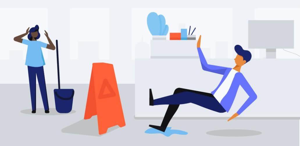 slip and fall insurance illustration