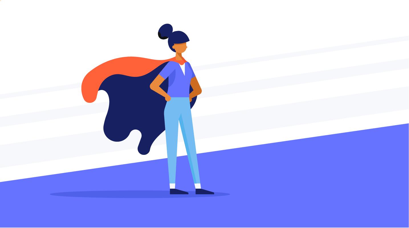 woman in a super hero cape