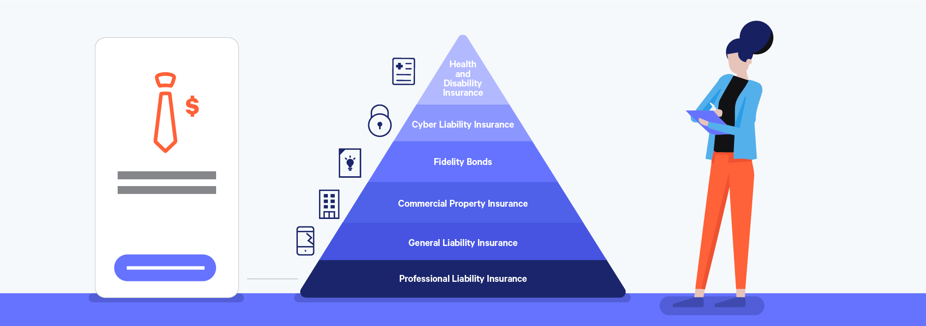 professional liability insurance as a key freelance insurance policy illustration