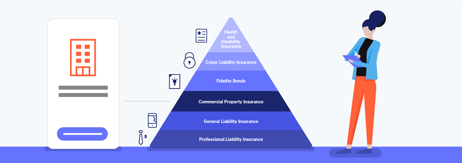 commercial property insurance as a key freelance insurance policy illustration