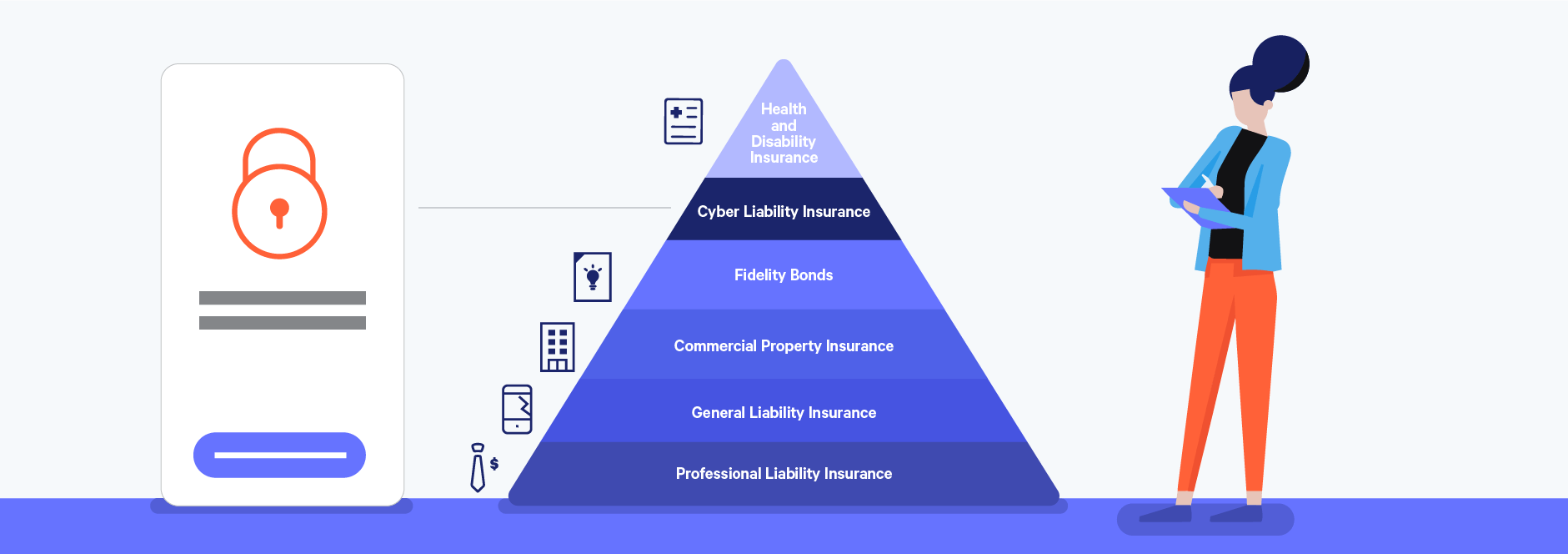 cyber liability insurance as a key freelance insurance policy illustration
