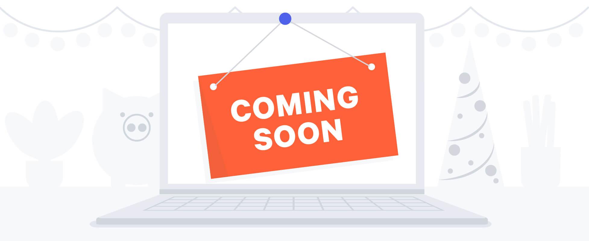 website coming soon illustration