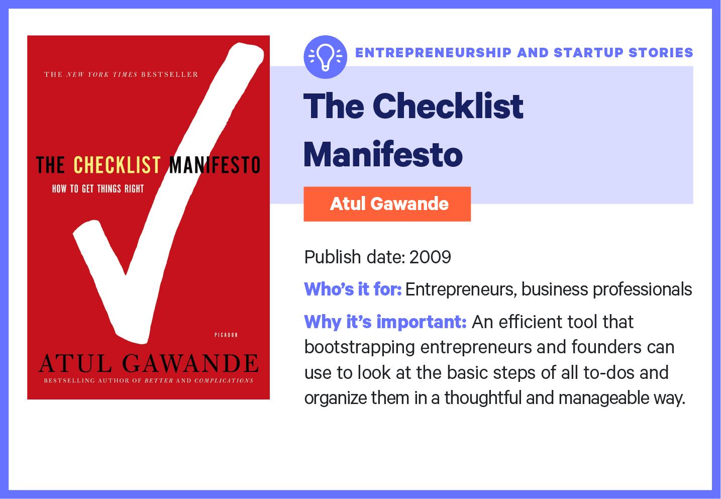 the checklist manifesto book