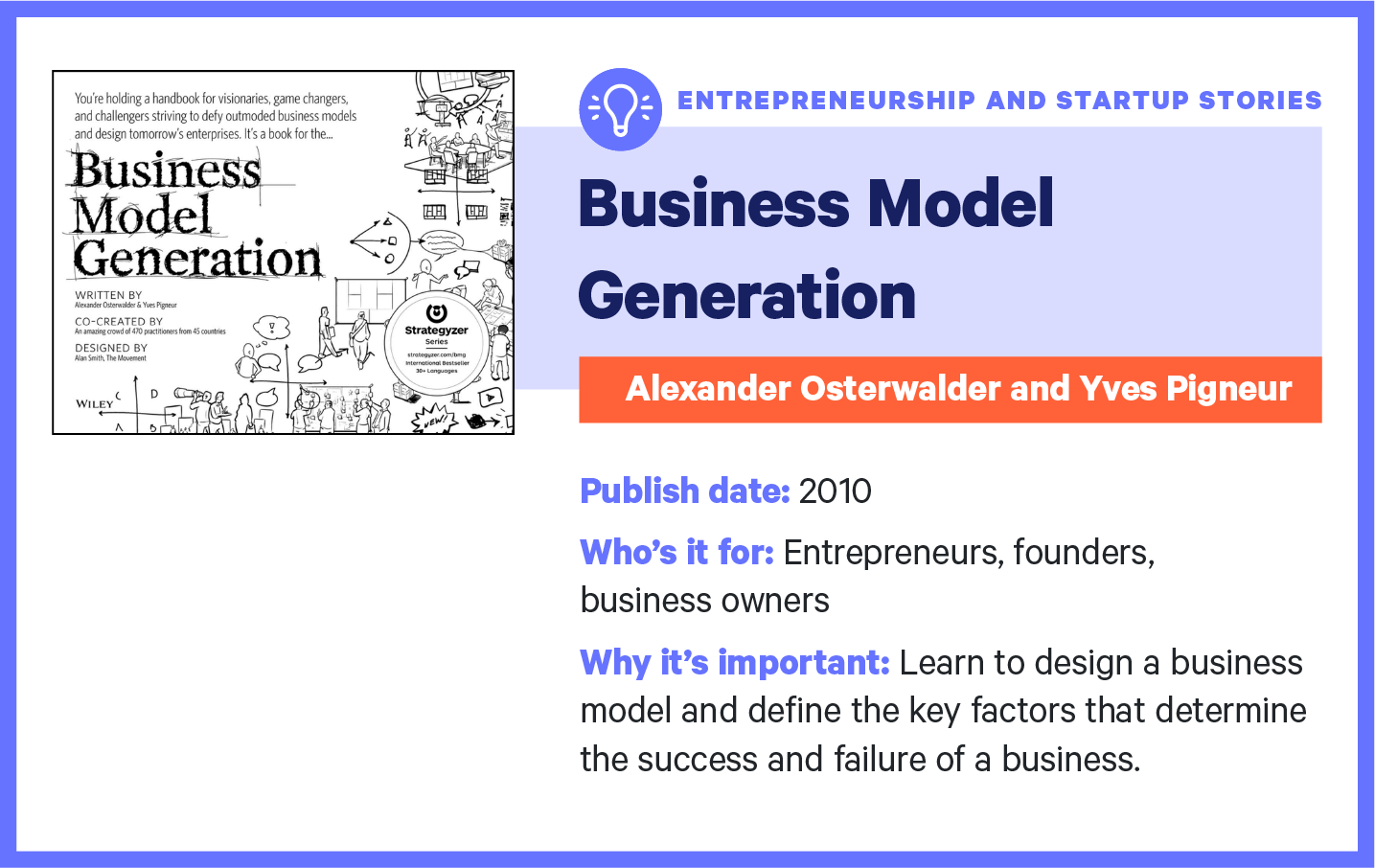 business model generation book