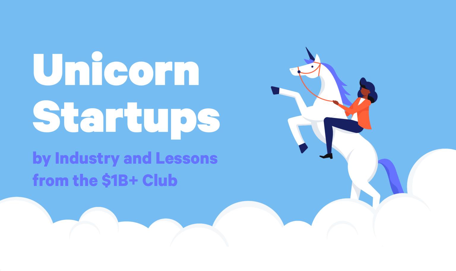 business woman riding a unicorn