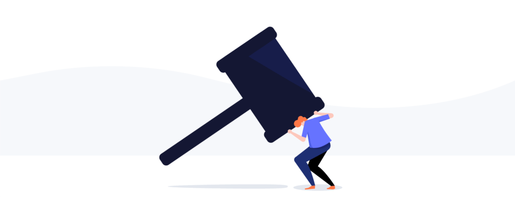 fighting lawsuits illustration