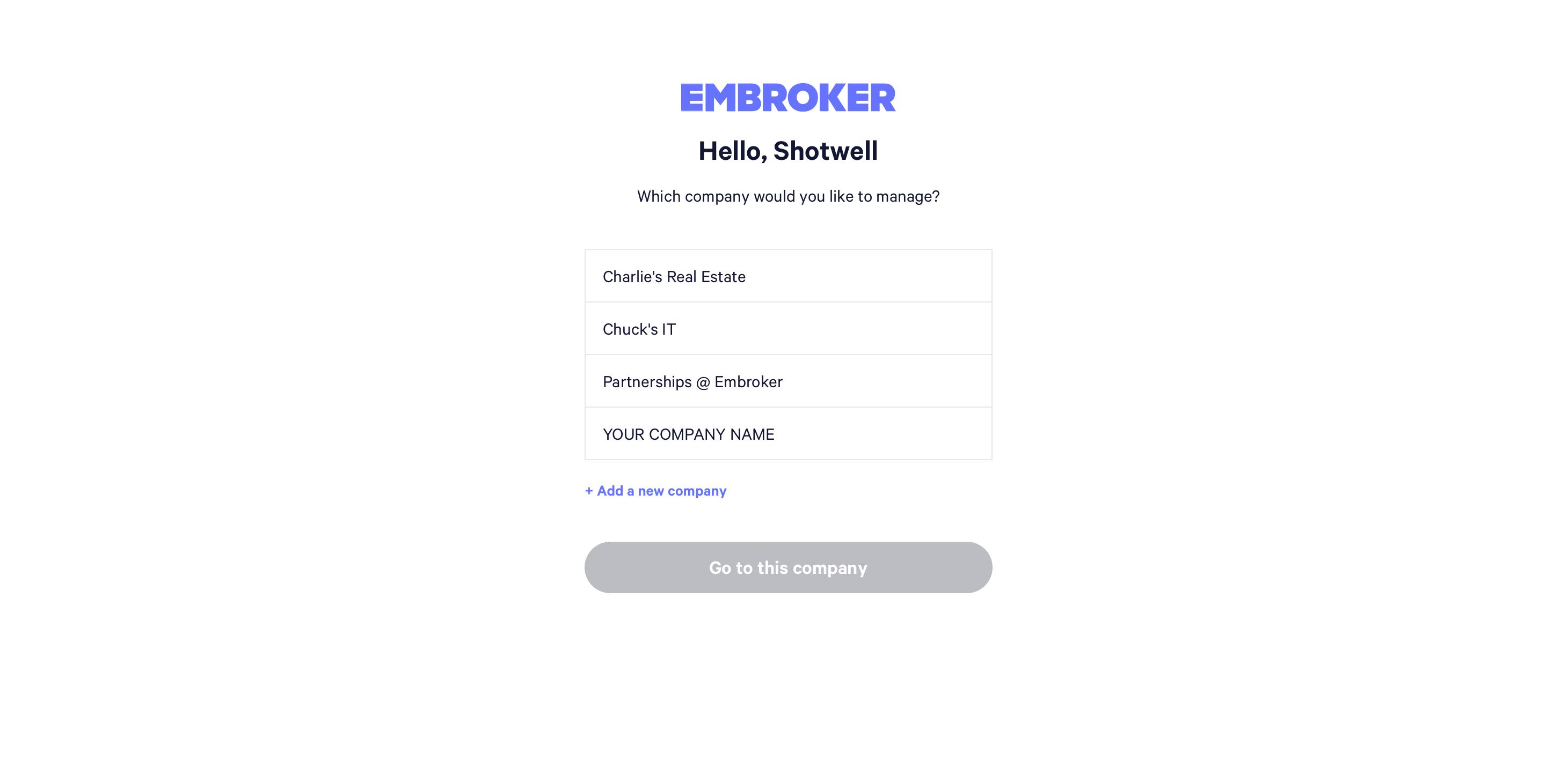Multi-company Insurance screenshot