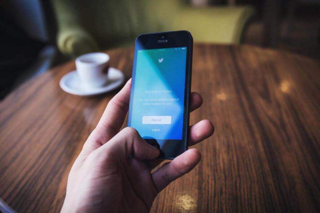 Twitter app screen