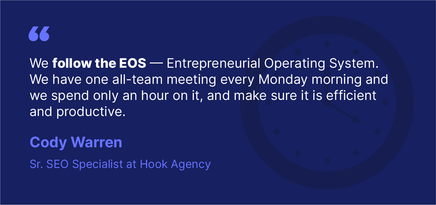 Startup quote on eos system