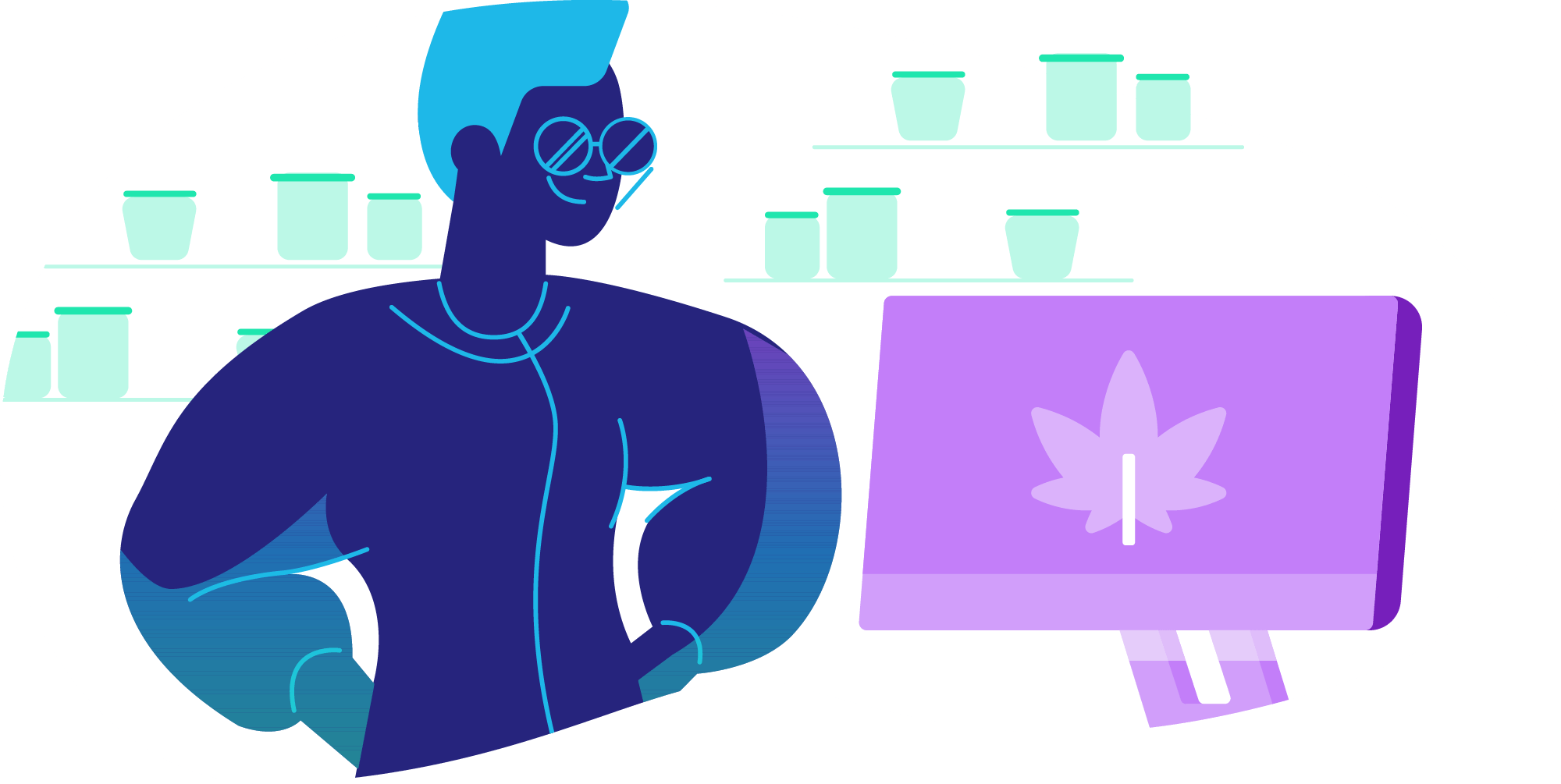 tech in the cannabis industry illustration