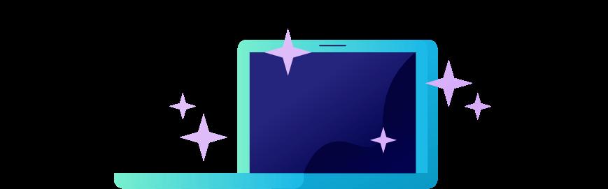A brand new laptop. Illustration.