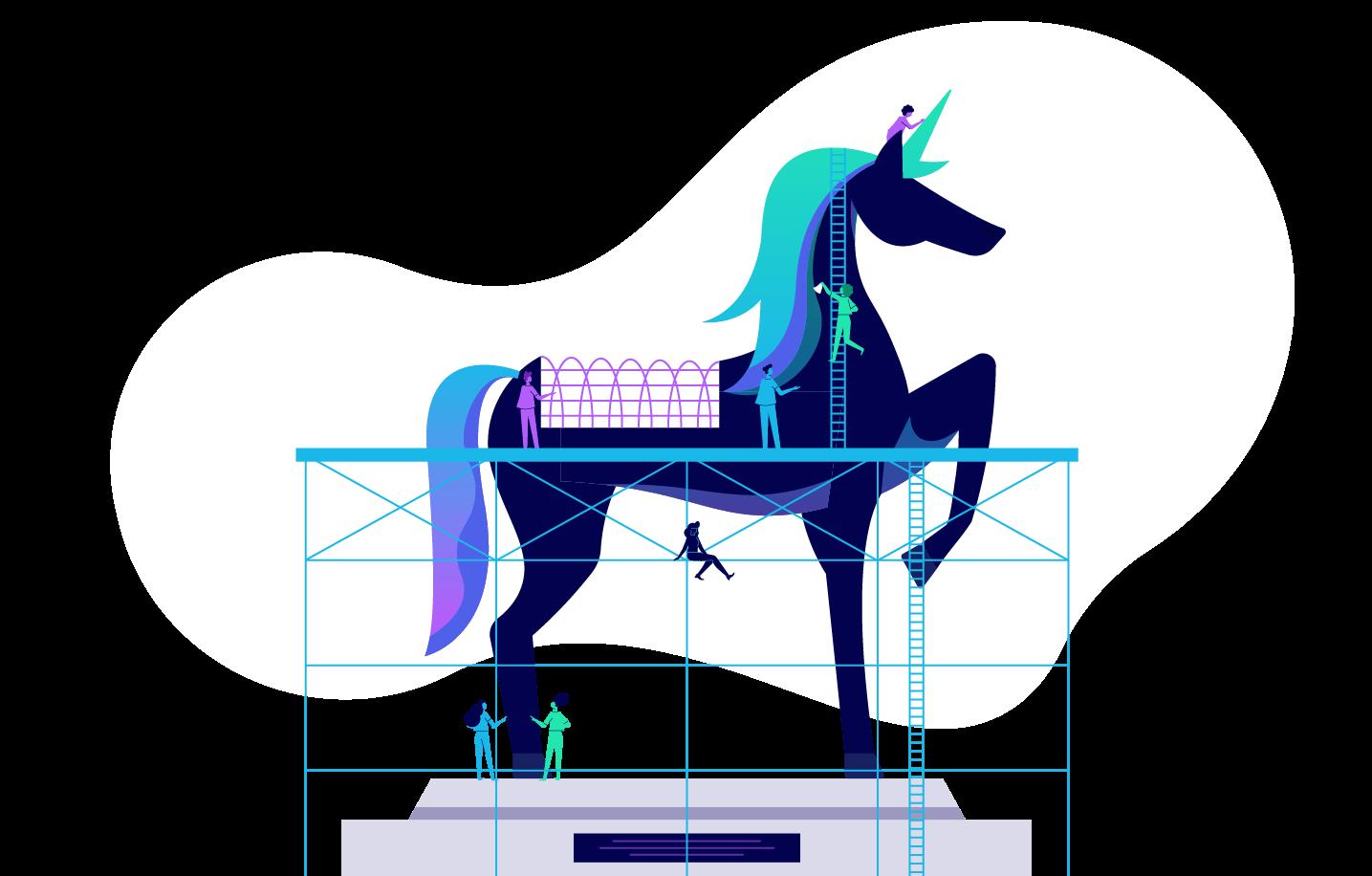 what makes a unicorn startup illustration